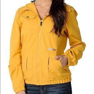 Volcom Enemy Lines Yellow Windbreaker Jacket